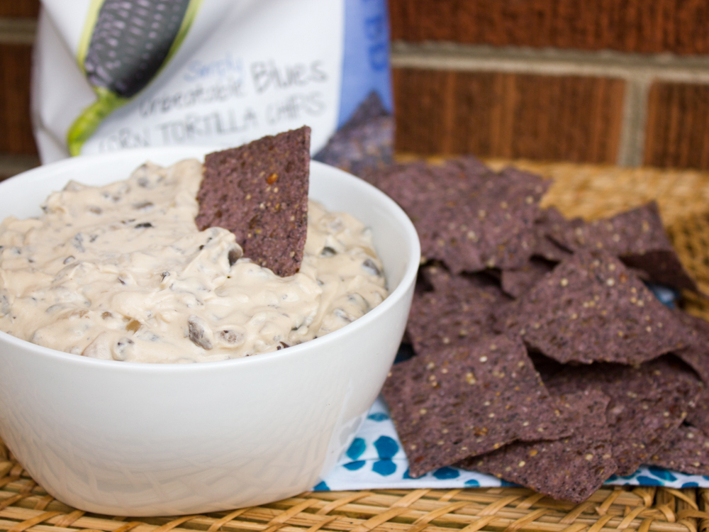 Holiday appetizers don't need to be hard. All it takes is a few simple ingredients, and this cheesy portobello dip is ready-to-go!