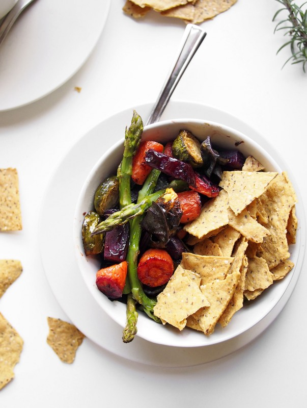 Fill a bowl with a rainbow of roasted veggies, and you're in for a way better meal.